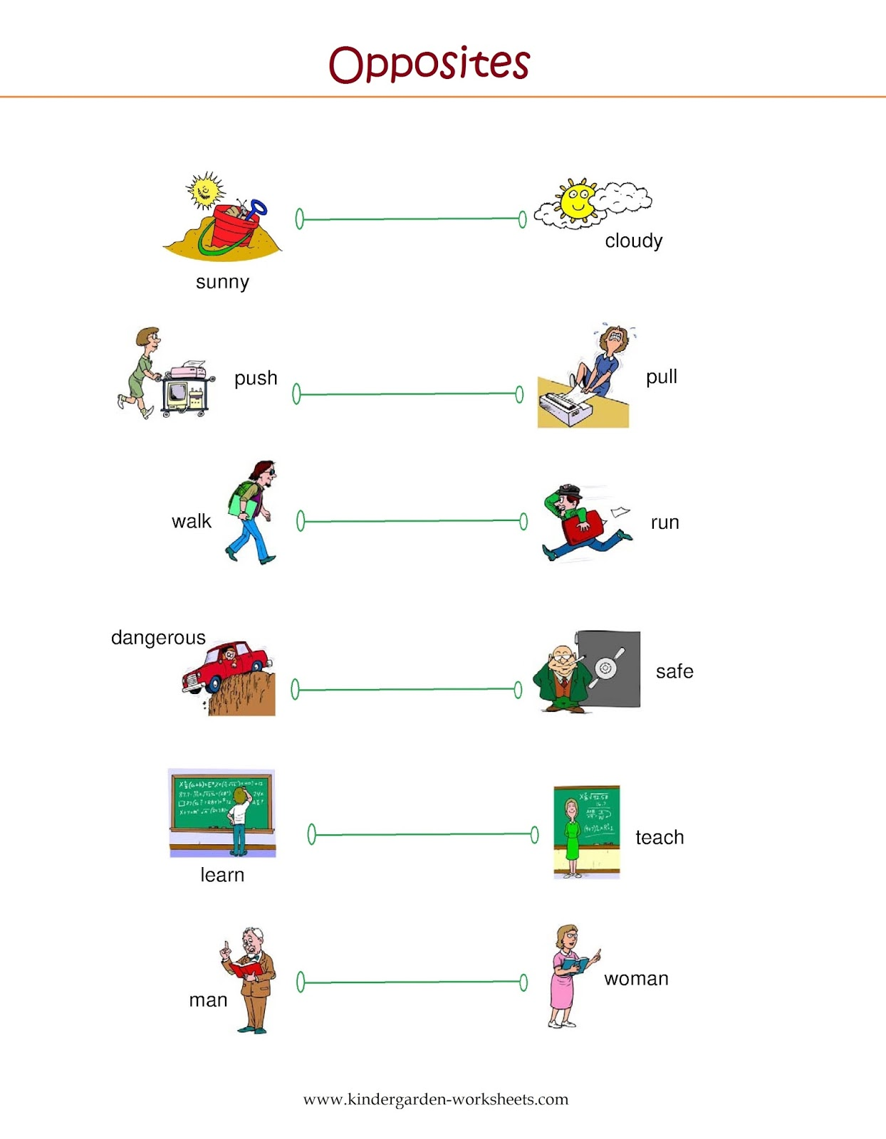 Worksheet Preschool Opposites Worksheet Wosenly Free Worksheet – Kindergarten Opposites Worksheet