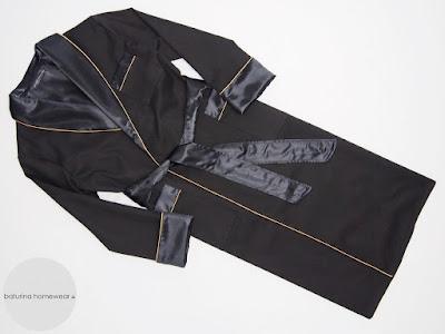 langer herren hausmantel baumwolle seide schwarz gold klassisch luxus morgenmantel edel