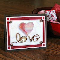 Quilled On Edge Lettering Love Card