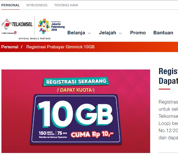 Melalui Promo Registrasi Ulang Untuk Dapet Kuota Gratis Telkomsel 2019