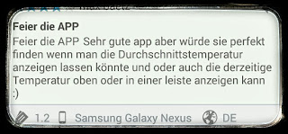 android temperature warnung