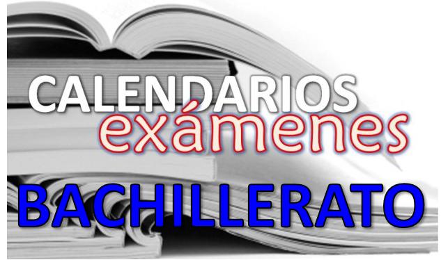 Resultado de imagen de calendario examenes bachillerato 2018