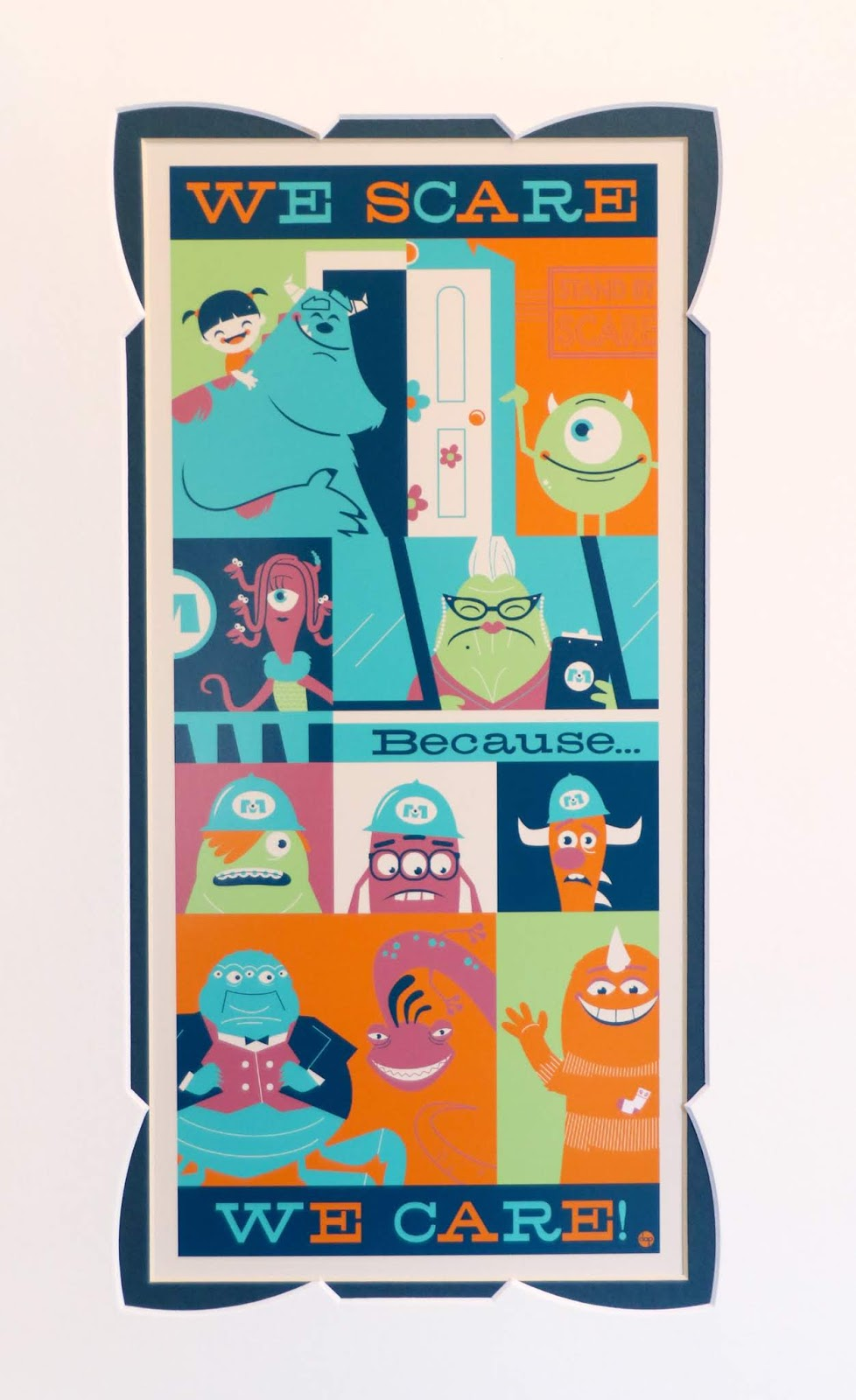 Dan The Pixar Fan Monsters Inc We Scare Because Art Print By