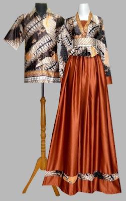 Model Gamis Batik Kombinasi Satin muslim