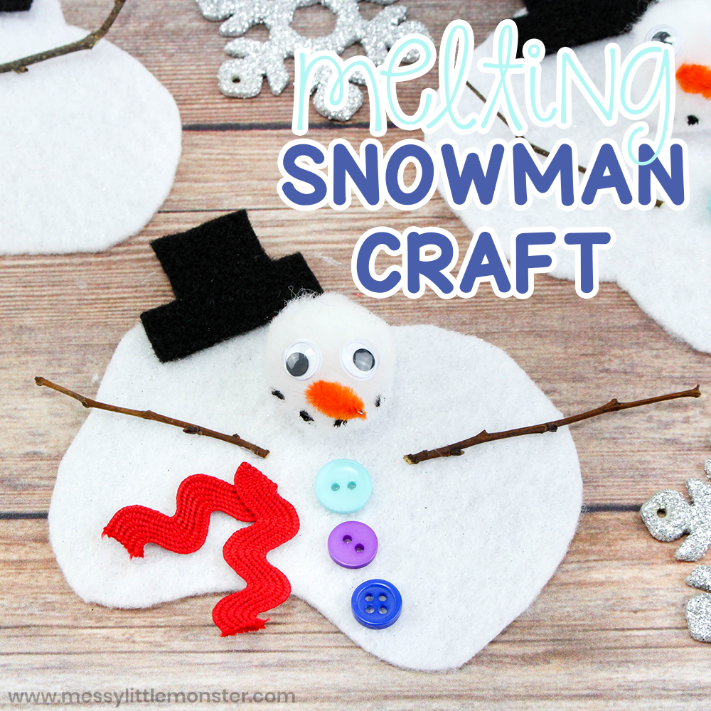 Melting snowman craft for kids