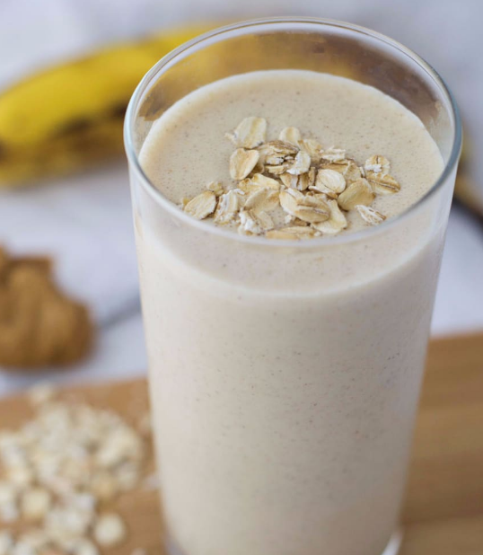 PEANUT BUTTER BANANA BREAKFAST SMOOTHIE #smoothie #delicious
