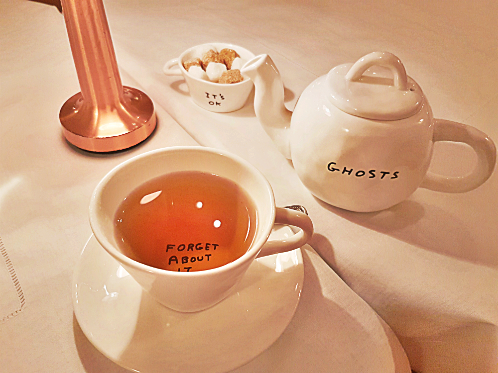 Sketch London afternoon tea cup - Ghosts - forget about it