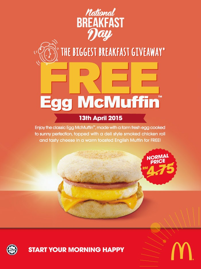 Free Samples and Good Deals: McDonald's Breakfast Day 2015 ...