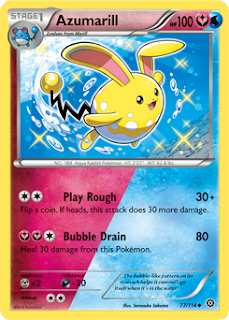Azumarill Steam Siege Pokemon Card