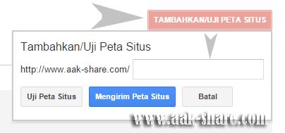 Mengirim Sitemap