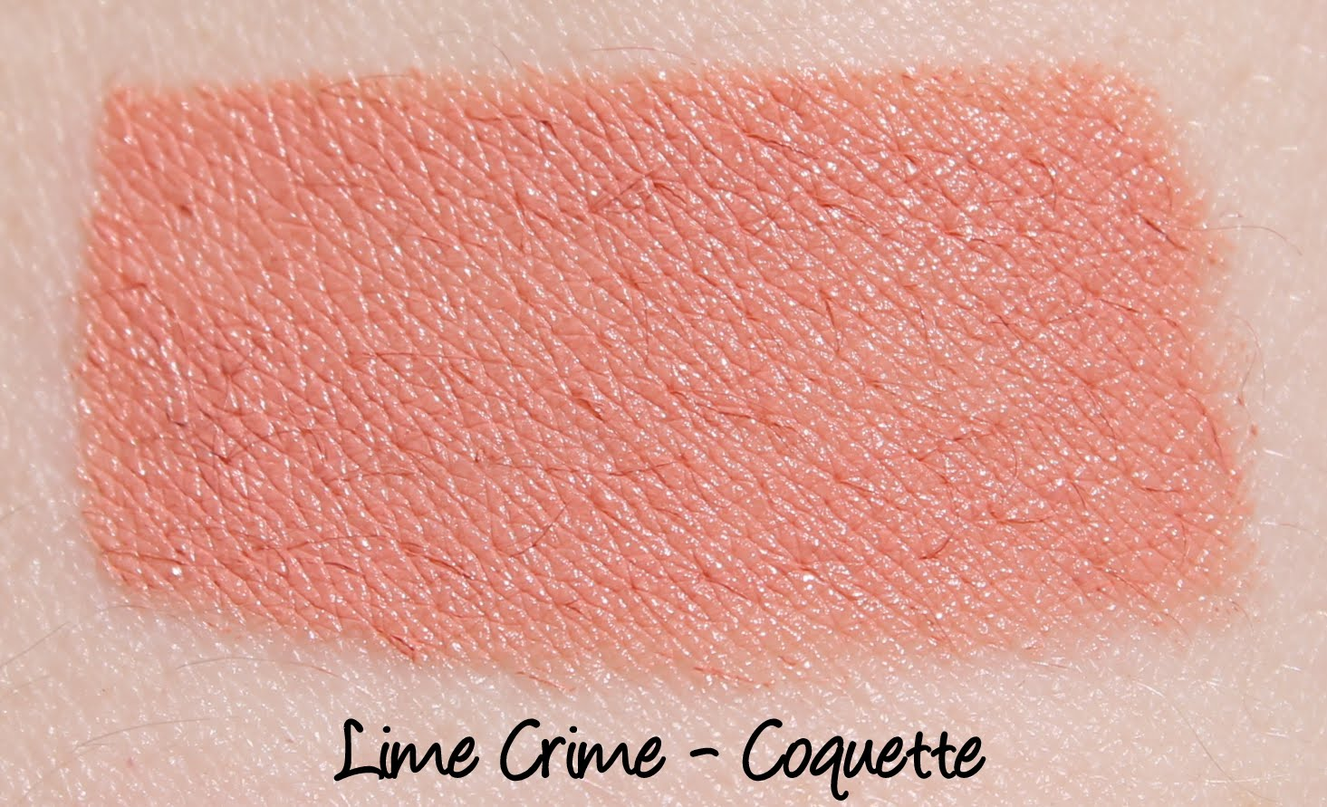 Lime Crime Coquette Lipstick Swatch
