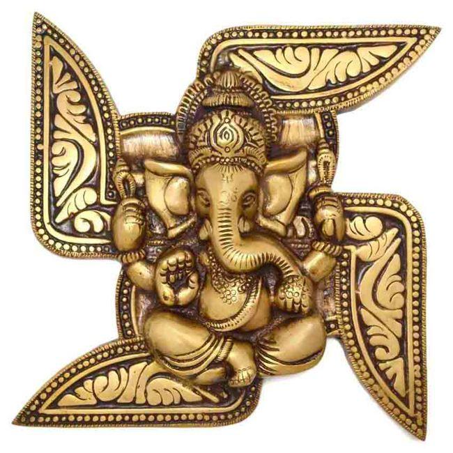 Swastika Symbol With Lord Ganesha