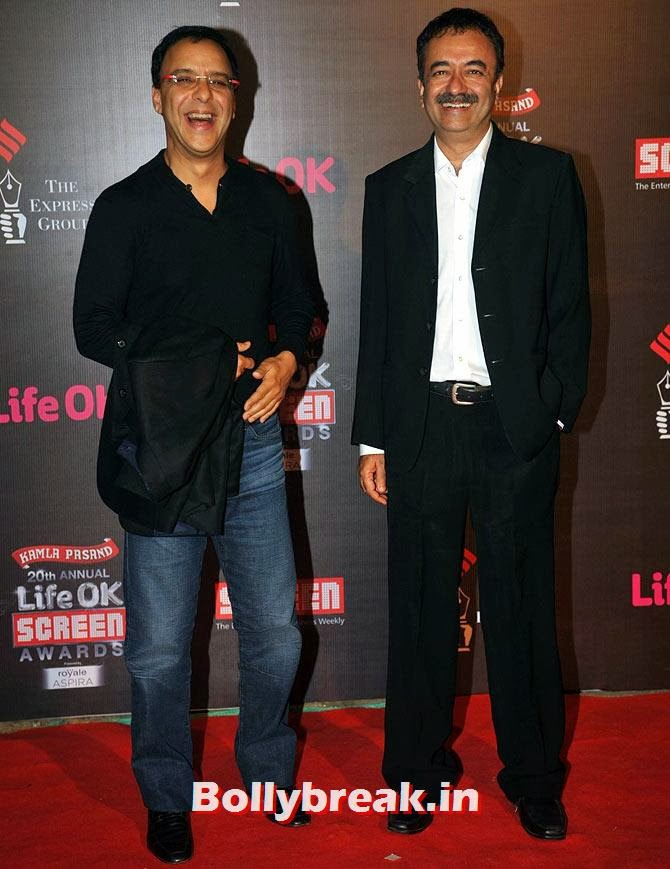 Vidhu Vinod Chopra and Rajkumar Hirani, Life Ok Screen Awards 2014 Red Carpet Photos