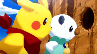 Pikachu y Oshawott