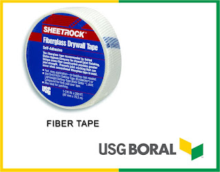 Gypsum ceiling material FIBER TAPE-USG