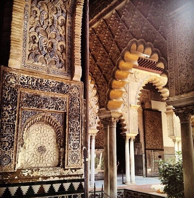 Striking Moorish architecture at the Real Alcazar Palace