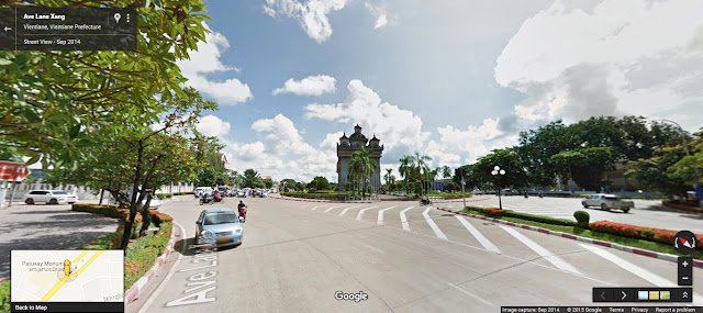 Google Streetview for Vientiane