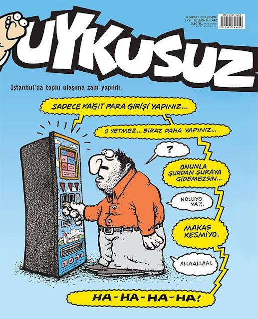 Uykusuz Dergisi - 4 Şubat 2016 Kapak Karikatürü