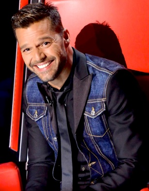 Foto de Ricky Martin sonriendo