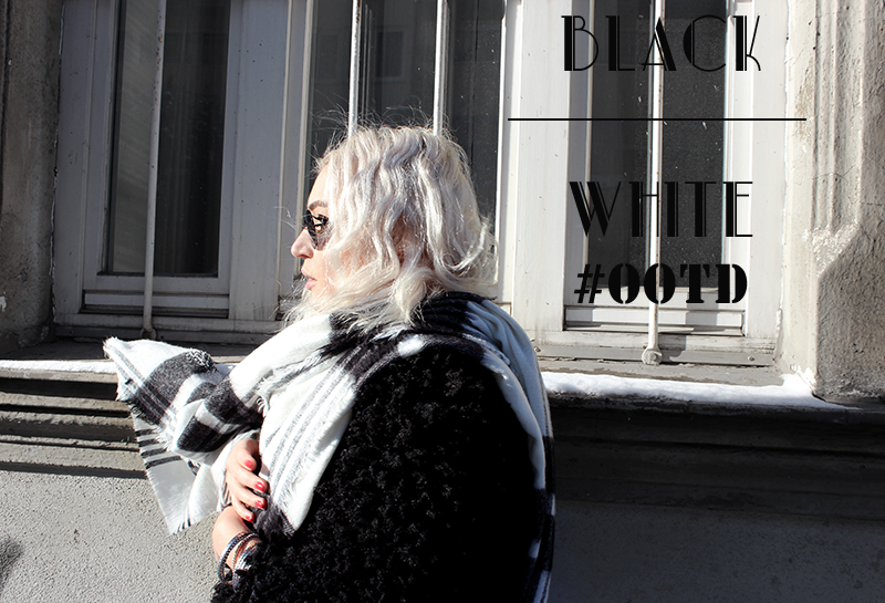 Fashion-Blog-Munich-München-Muenchen-Black White-American Apparel-Fur Jacket-H&M Trend-Zara-Adidas-Sneakers-Sassyclassy-OOTD-Outfit-Fashion Style-Layer Look-Fashionblog-Modeblog-Modeprinzesschen-Deutschland