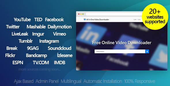 Download All in One Video Downloader v3.2 for free