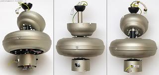 Klarstein Charleston lampadario ventilatore, corpo principale