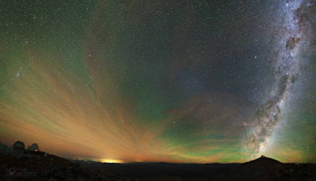 Airglow, Gegenschein, and Milky Way