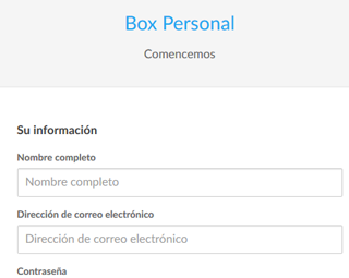 formulario de registro box