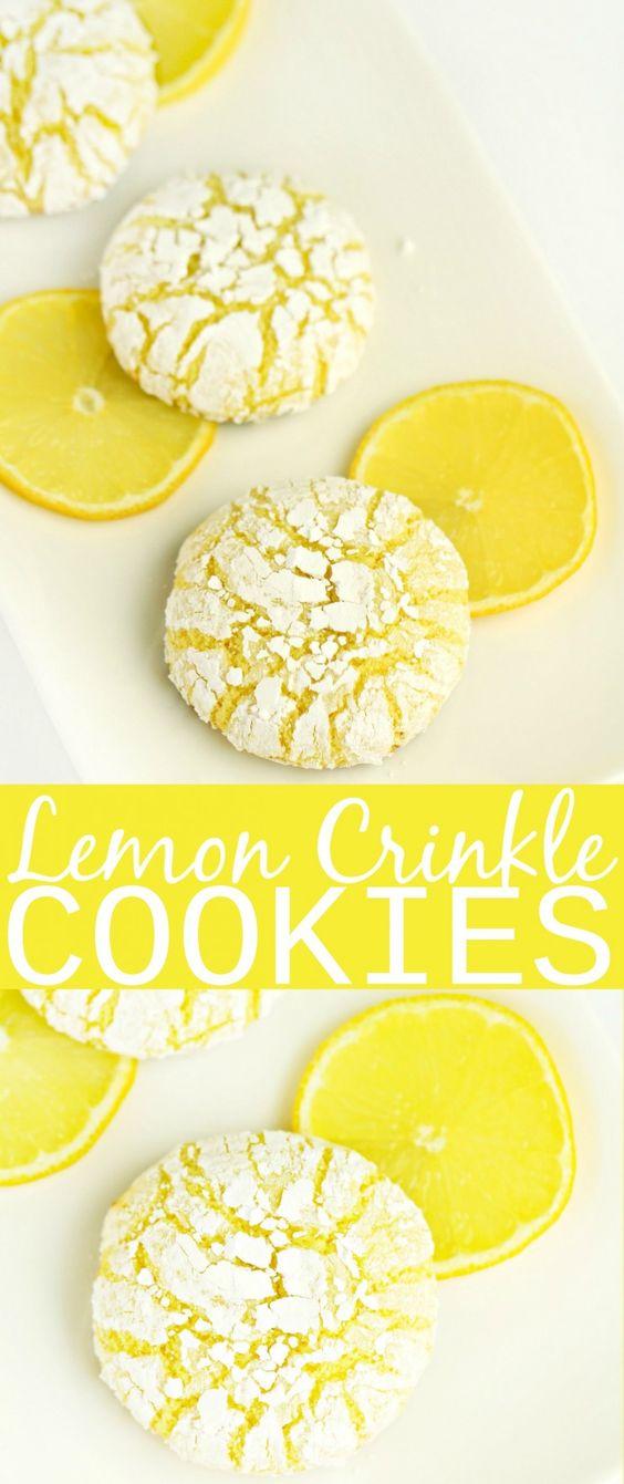 LEMON CRINKLE COOKIES #lemon #crinkle #cookies #cookierecipes