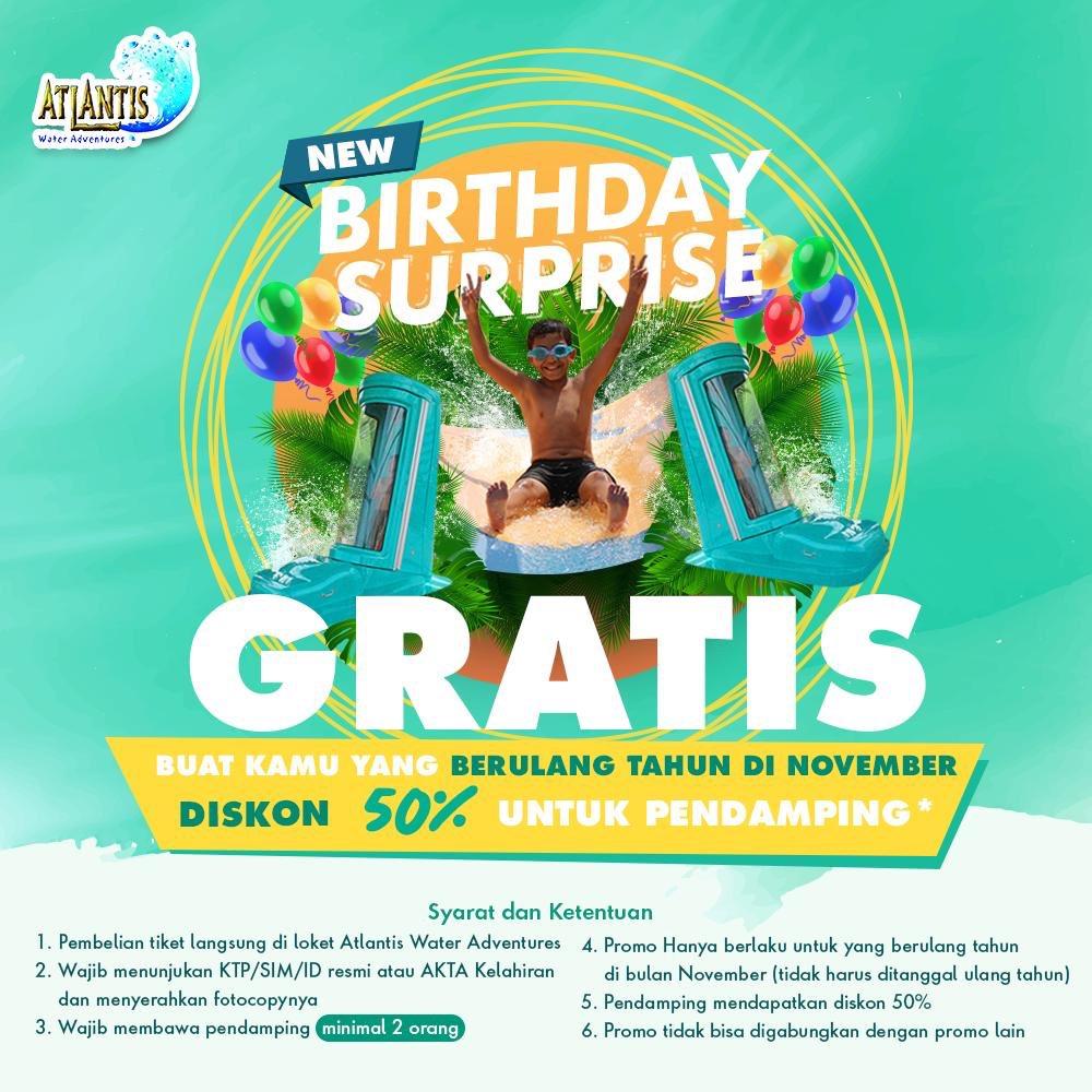 Ancol - Promo Birthday Surprise Diskon 50% Untuk Pendamping