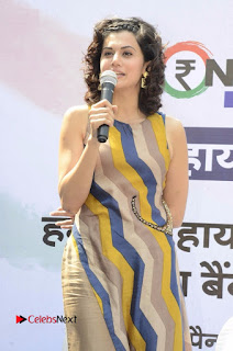 Actress Tapsee Panu Stills at Remonetise India Campaign in Chetna College Bandra West  0007.jpg