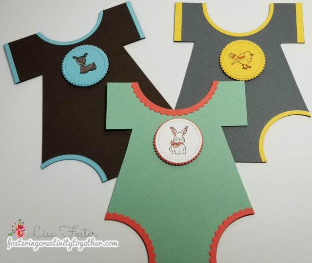 Baby Onsie Card, A Good Day, Shaped Card, Stampin up