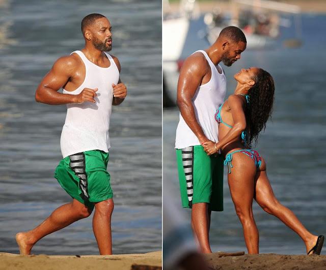will smith beach with jada pinkett