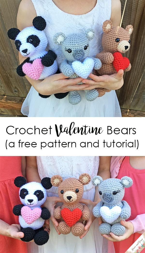 Amigurumi crochet pdf pattern tutorial paddy panda baer by | Etsy | 1046x600
