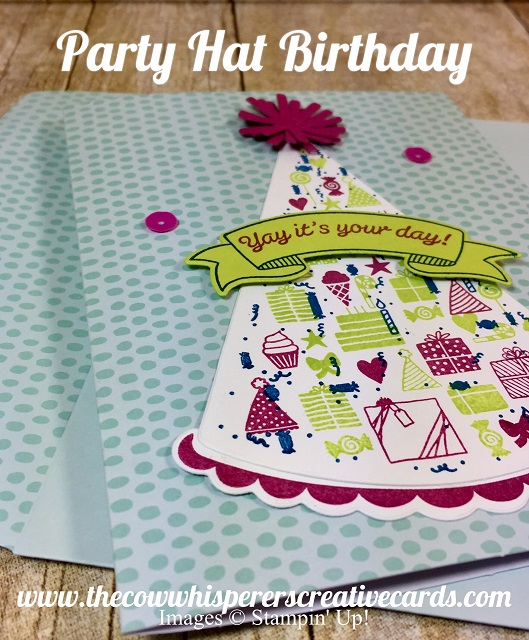 Card, Party Hat Birthday, Party Hat Dies, Stampin UP