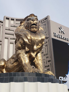 Leo the Lion sculpture in Las Vegas Nevada