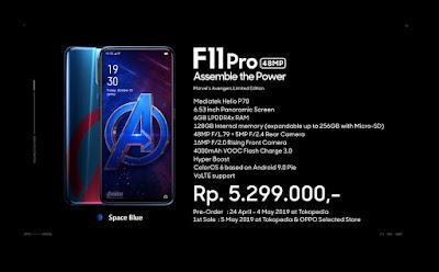 Oppo F11 Pro Avengers