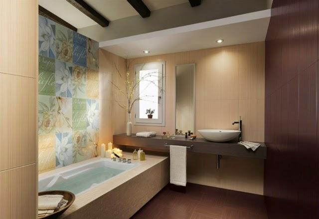 Azulejos modernos para baño