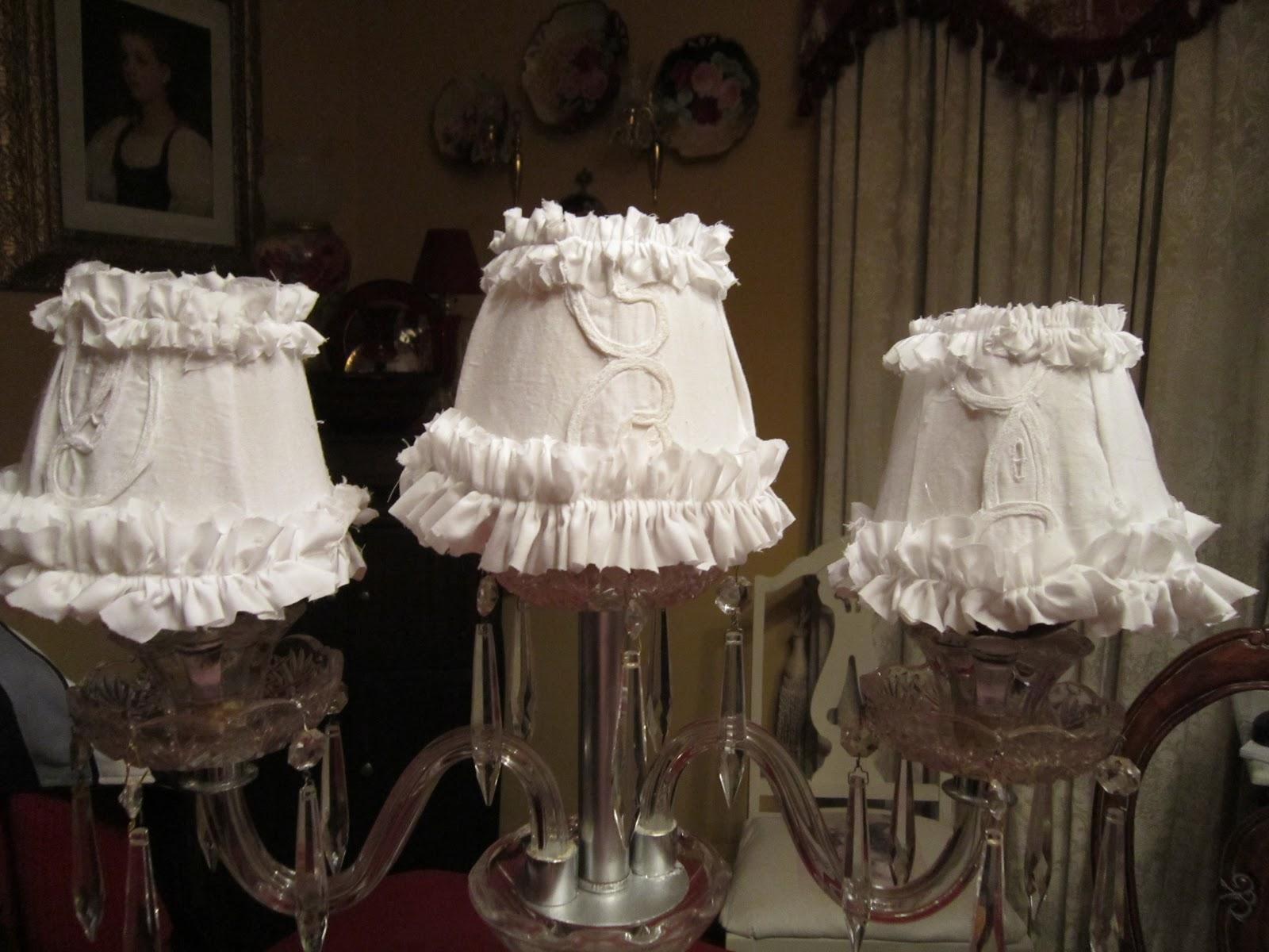 The Victorian Journey Shabby Chic Ruffled Lamp Shade Tutioral