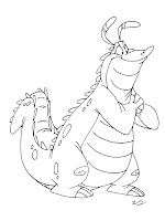 Charming Alligator Coloring Pages