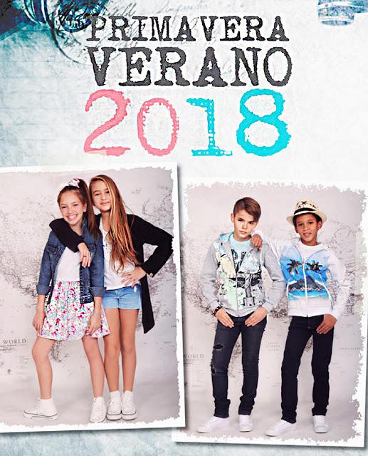 Moda primavera verano 2018. Catálogo Mayorista de venta ropa para niños. Moda 2018 primavera verano.