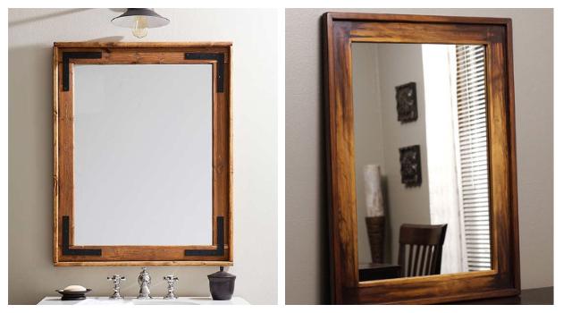 Κατασκευή Ξύλινου Καθρέφτη σε Ρουστίκ στυλ