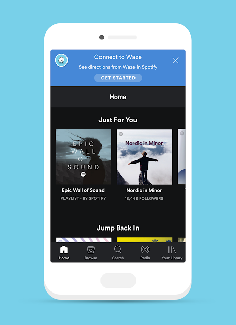 Spotify is now available on Waze