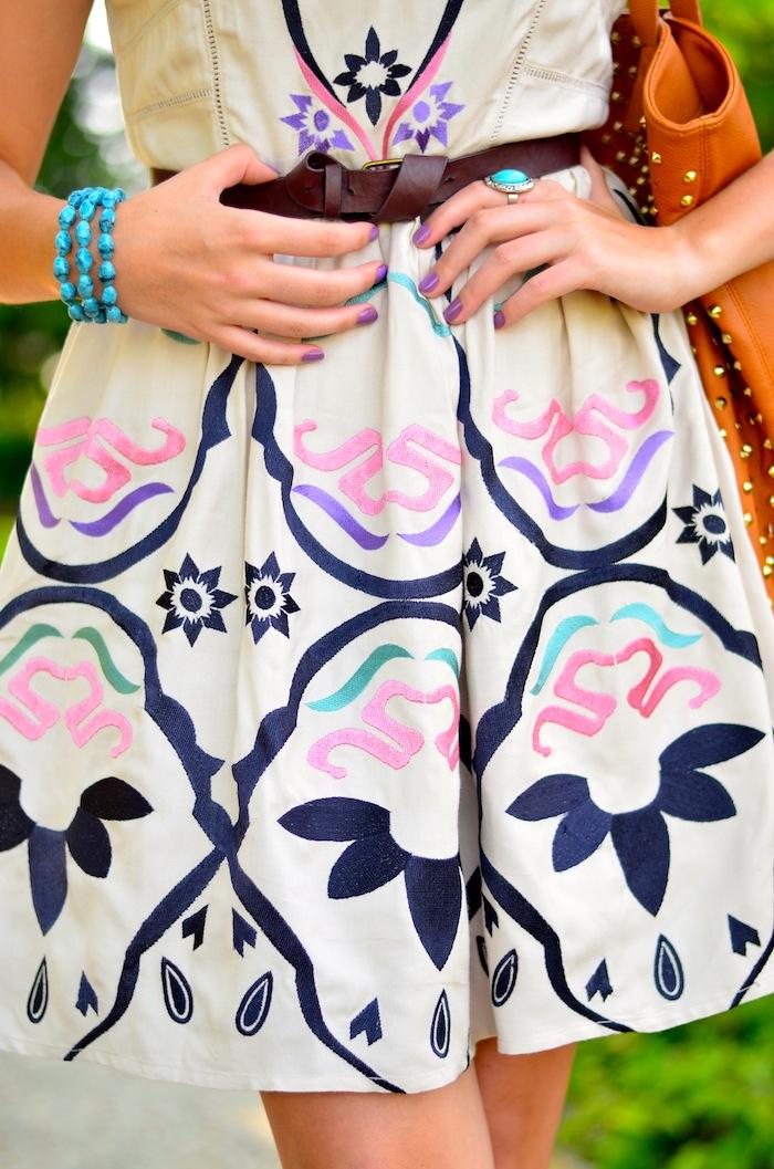 Bootlegger Bohemian Style Printed Dress