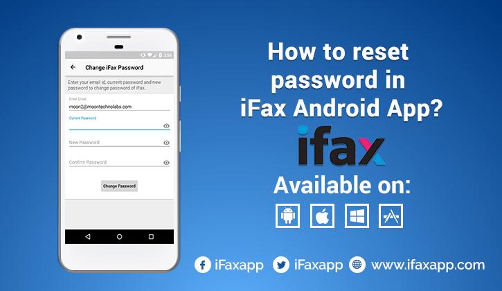 Send Online Fax | Best Fax App: How to reset password in