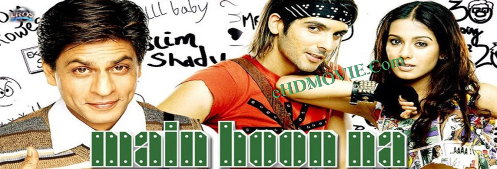 Main Hoon Na 2004 Full Movie Hindi 720p - 480p ORG BRRip 600MB - 1.2GB ESubs Free Download