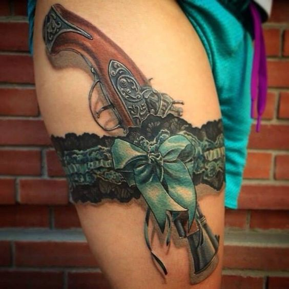 Cool Gun Tattoos Women