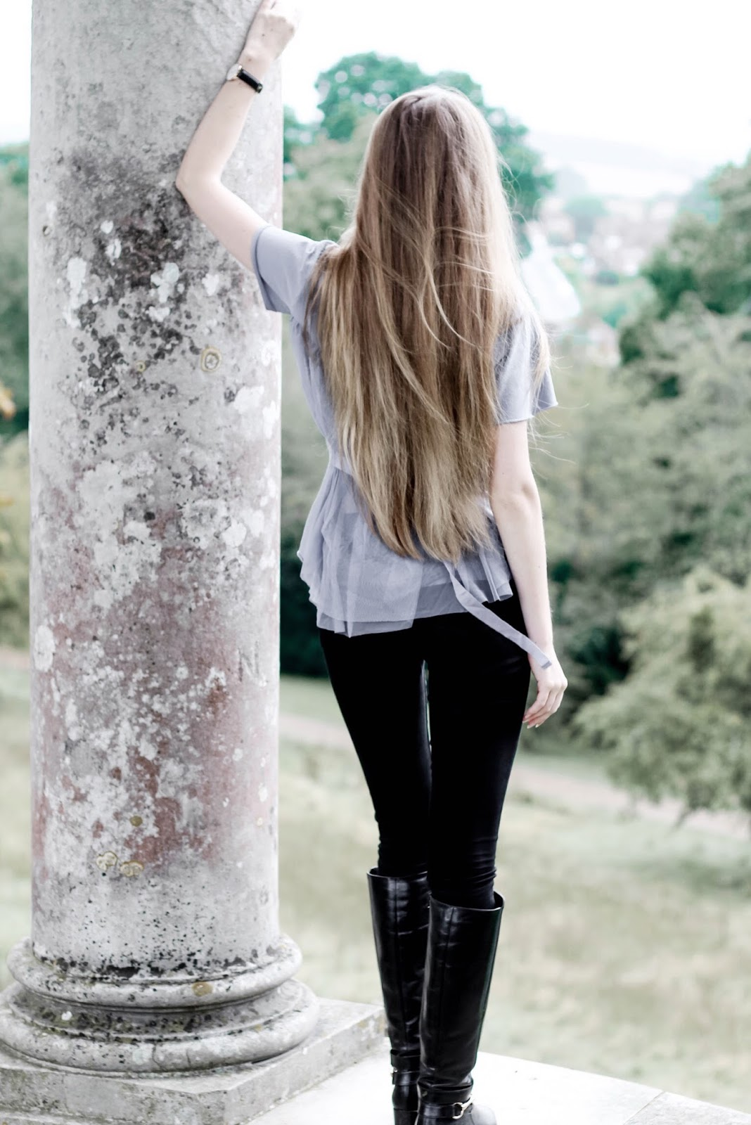 UK Fashion Blog Black Riding Boots Casual Autumn Styling