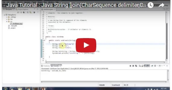 Java ee java tutorial java string join charsequence for Pool design pattern java