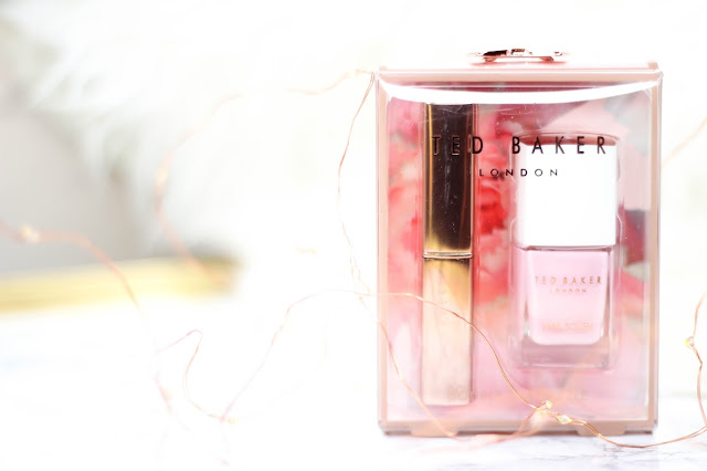 Ted Baker London Double the Dazzle Duo, Nail Polish in light Pink and Tinted Lip Balm.jpg